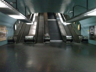 Escalators à Nation